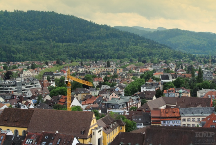 Blick vom Münsterturm auf auf das Umland der Stadt