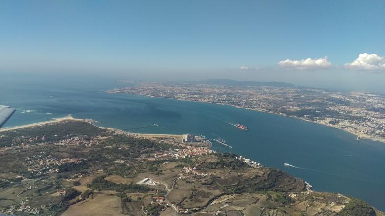 Anflug auf Lissabon