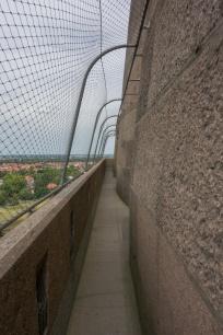Der Rundgang um die Kuppel des Völkerschlachtdenkmals