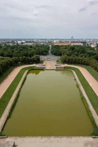 Der See vor dem Völkerschlachtdenkmal
