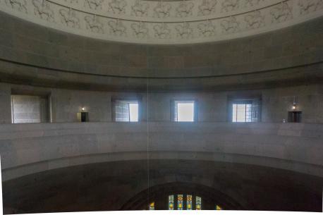 Galerie unter der Kuppel des Völkerschlachtdenkmals