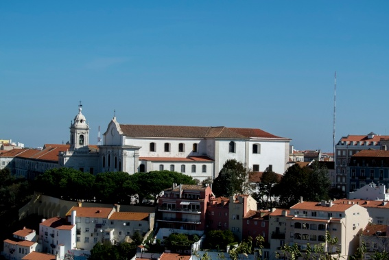 Blick über die Stadt vom Castelo de S. Jorge