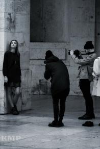 Photoshooting auf dem Praça do Comércio