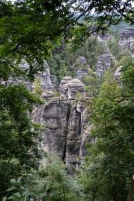 Bizzarre Sandsteinkraetionen der Natur