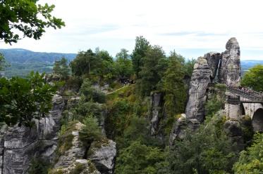 Die Bastei, die nur über die Basteibrücke zu erreichen ist