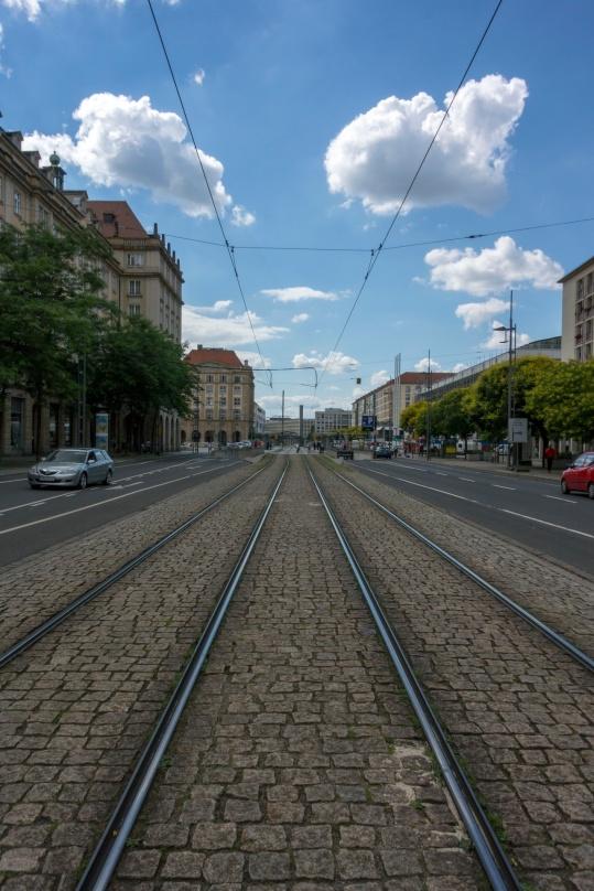 In der Innenstadt Dresdens