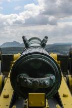 Kanone der Festungsartillerie