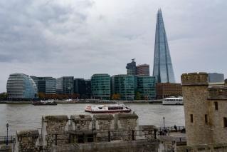 Skyline on river Thames