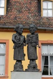 Moderne Goethe und Schiller Denkmal