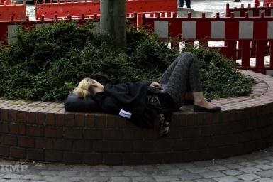 Mittagsschläfchen auf dem Jakobsplatz