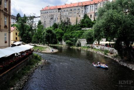 Schloss Und Moldau