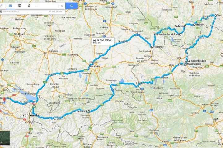 Ganze Route