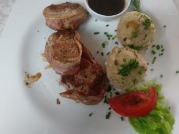 Ausgezeichnetes Essen im Restaurant meines Hotels