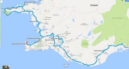 Gesamte Route