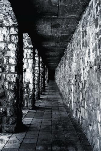 Galerie in der Aussenmauer