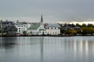 Regentag in Reykjavik
