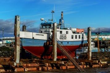 """""""Christina"""" wird im alten Hafen überholt"""