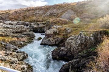 Barnafoss, der Wasserfall der Kinder