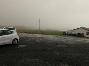 Regen und Wind beim Haifisch Museum