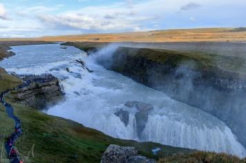 """Der """"Goldene Wasserfall"""" am Fluss Hvítá"""