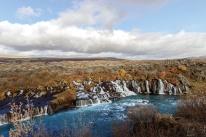 Hraunfossar, die Lavawasserfälle