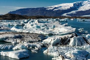 Die grosse Gletscherlagune am Gletscher Vatnajökull