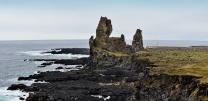 Hier ist die Lava von Snæfellsjökull bis ins Meer gelangt