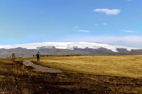 Mýrdalsjökull, der Gletscher der den Vulkan Katka bedeckt