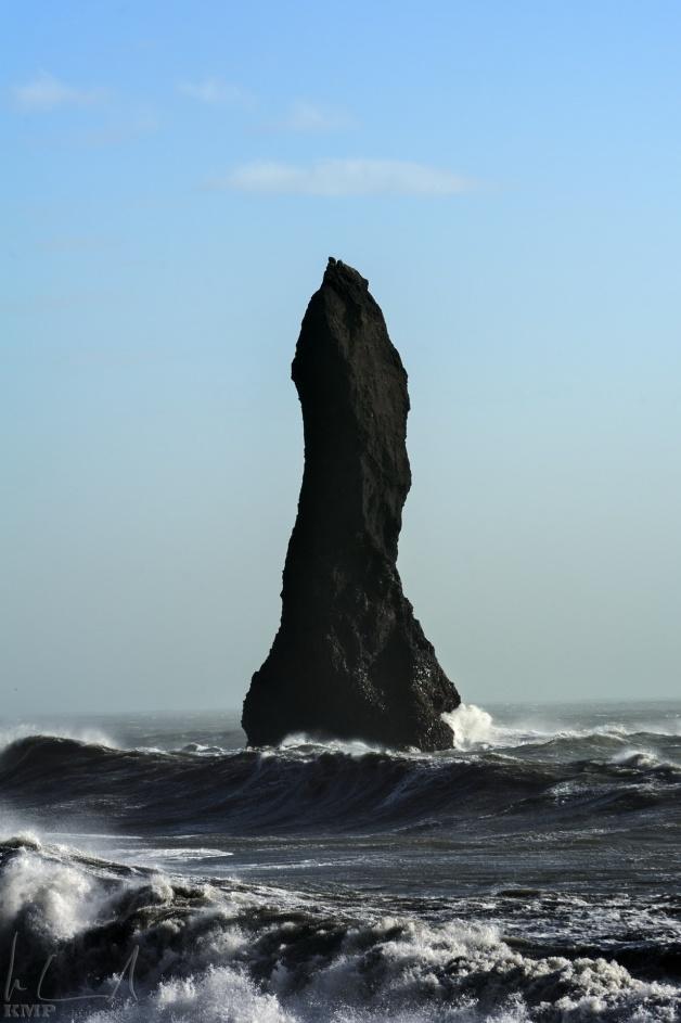 Basaltsäule im Meer