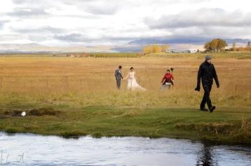 Japanisches Hochzeitspaar beim Seljalandsfoss