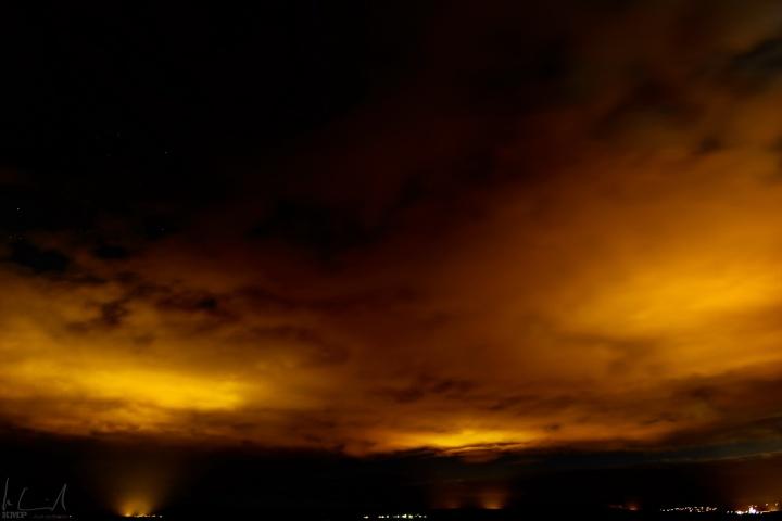 Nachthimmel über Skálholt