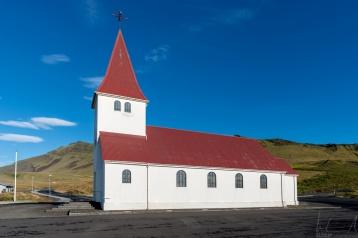 Die Kirche von Vík í Mýrdal