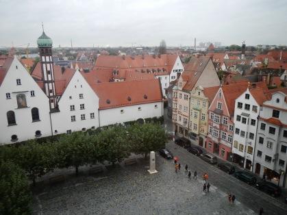 Blick hinter das Rathaus