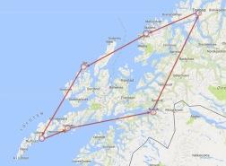 Norwegen Frühling 2018 - Gesamtroute