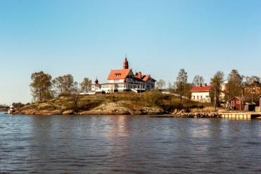 bewohnte kleine Insel vor Helsinki
