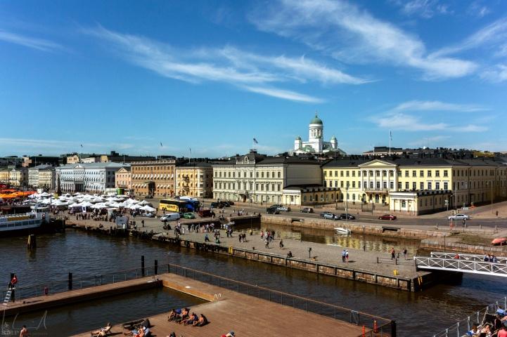 Der Marktplatz am Hafen
