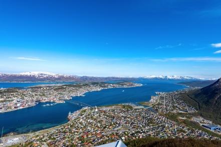 Tromsø von Storsteinen aus gesehen