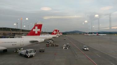Warten auf Boarding für Oslo
