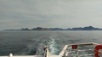 Auf der Fähre von Gryllefjord nach Andenes