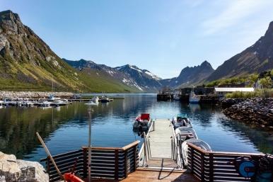 Der Hafen von Gryllefjord