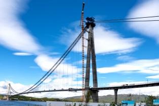 Die neue Hålogaland Brücke vor Narvik