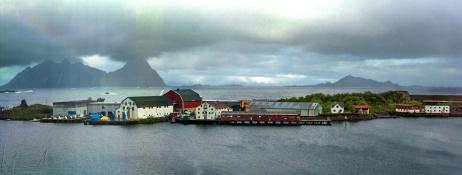 Blick aus meinem Hotelzimmer in Svolvær