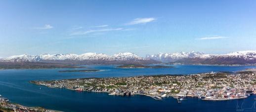Blick auf die Stadt Tromsø