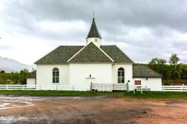 Die Hol Kirche bei Leknes
