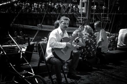 Strassenmusiker in Nyhavn