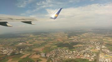 Nach dem Start in Zürich/Kloten