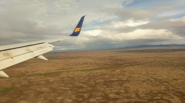 Kurz vor der Landung in Kevlavík
