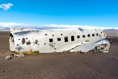 Flugzeugwrack im Solheimasandur