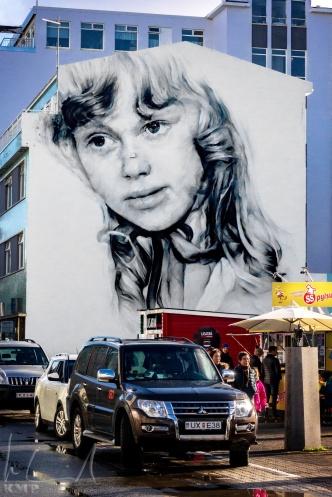 Grafitti in der Hafnarstræti in Akureyri