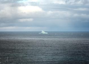 Ein Eisberg am Eingang des Eyjafjörður